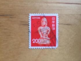 日本邮票 1976 动植物国宝(3组)新版2次    200日元(陶俑) (信销票)