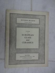 Catalogue of EUORPEAN CLASS  and CERAMICS (欧州玻璃与瓷器目录)