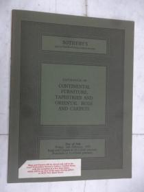 Catalogue of CONTINENTAL FURNITURE,TAPESTRIES AND ORIENTAL RUGS AND CARPETS(欧州家俱,挂毯,地毯目录)
