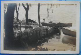 民国老照片:民国风光,可能是杭州西湖,背面有上海王开照相馆代印字样【陌上花开系列】