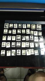 五十年代欧宗袁等师生免冠照片45张一袋,后面有签名