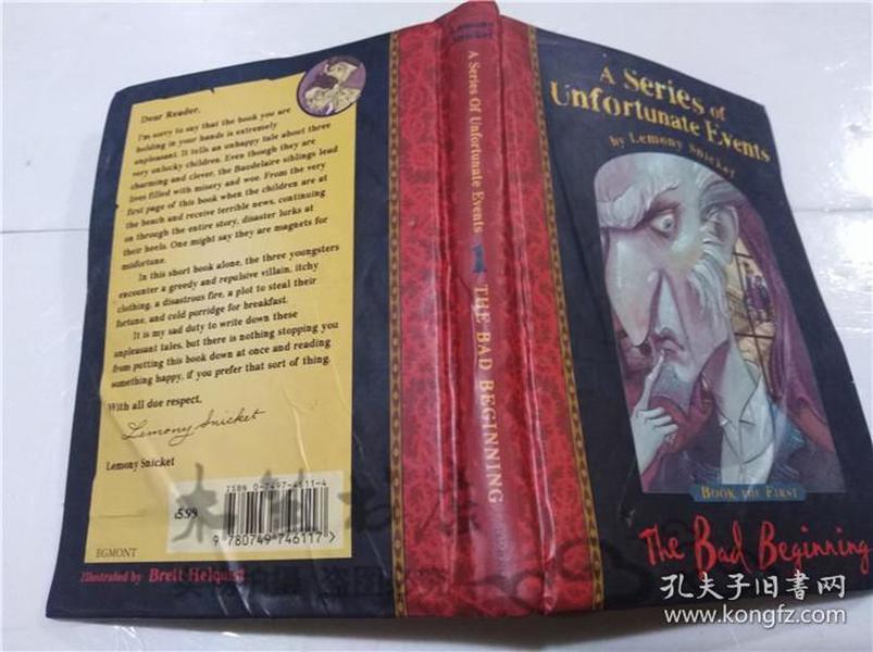 原版英法德意等外文书 A Series of Unfortunate Events THE BAD BEGINNING BRETT HELQUIST BGMONT  1999年 32开硬精装
