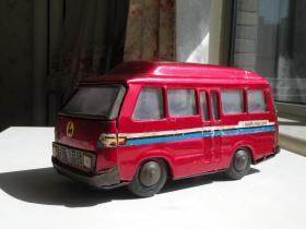 70年代 铁皮玩具面包车 老玩具