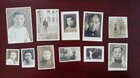 1935福建闽候人严子钧的同学互赠照片11种,背面有文字
