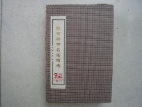西安碑林名帖精选(手工拓帖本 一函20册全)