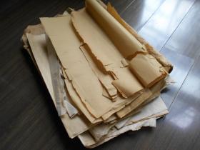 老纸头【各种元书纸77张】尺寸品种不一,修旧书不错