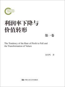 9787300246970利润率下降与价值转形(国家社科基金后期资助项目)