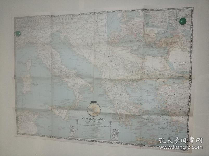 National Geographic国家地理杂志地图系列之1940.3 Classical Lands of The Mediterranean 地中海地图