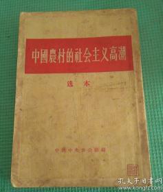 中国农村的社会主义高潮选本56年一版一印 竖版