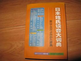 日本姓氏读音大词典
