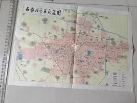 石家庄市区交通图 1984