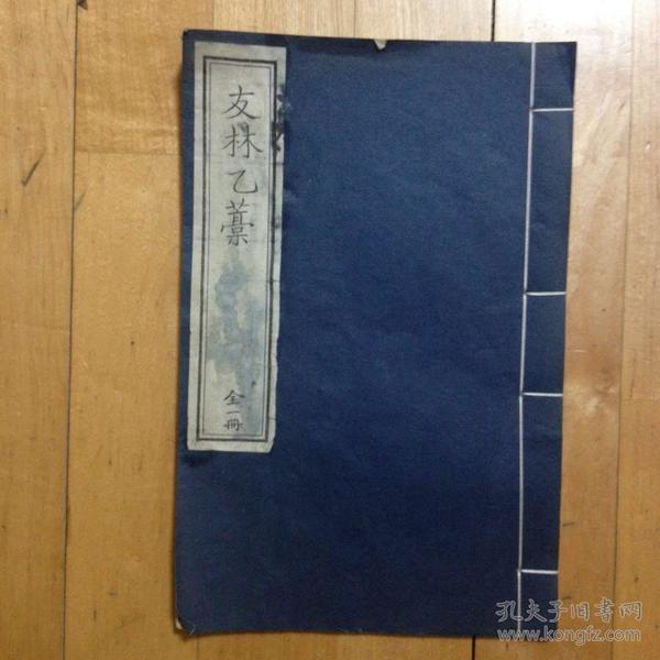 友林乙稿 (中国书店2008年重刷本线装一函一册全)
