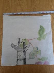 日本手绘水彩画稿一张