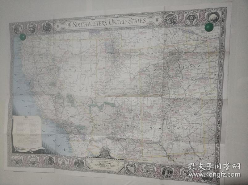 National Geographic国家地理杂志地图系列之1940.6 The Southwestern United States 美国西南部地图