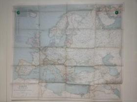 National Geographic国家地理杂志地图系列之1940.5 Europe and the Near East 二战时期欧洲地图