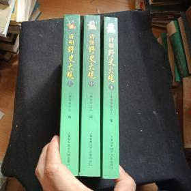清朝野史大观(上中下)