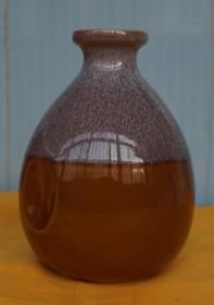 收藏酒瓶 异形窑变色玻璃酒瓶高14厘米一斤装无盖(x4)