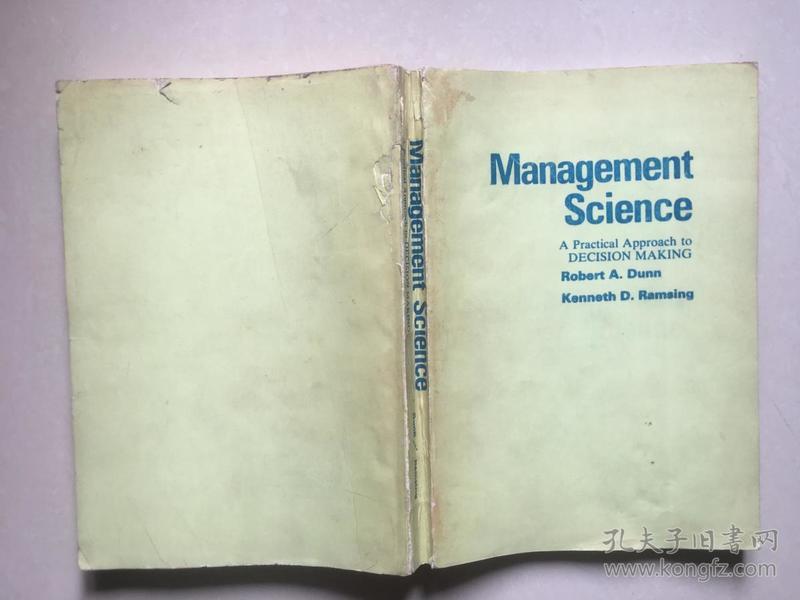 Management Science---管理科学--决策的实际方法【英文版】