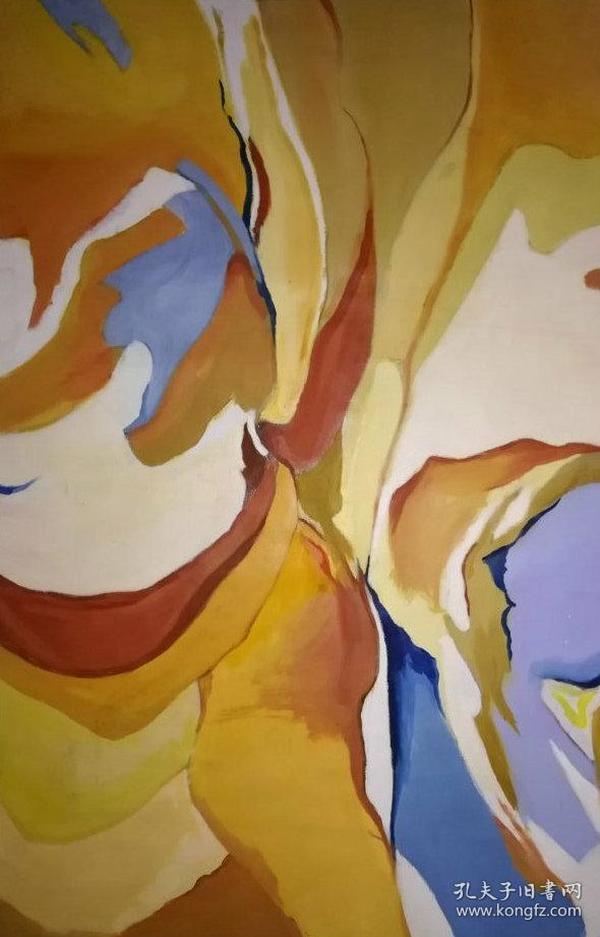 名画家布面抽象油画《无题》