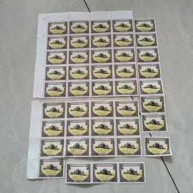 中华人民共和国印花税票1989(壹佰圆*27张、伍拾圆*44张、拾圆*68张、伍圆*9张、壹圆*23张、伍角*3张、壹角*42张)216张合售