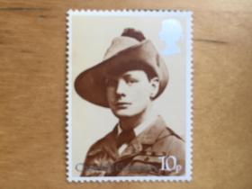 英国邮票    1974年丘吉尔诞生100周年