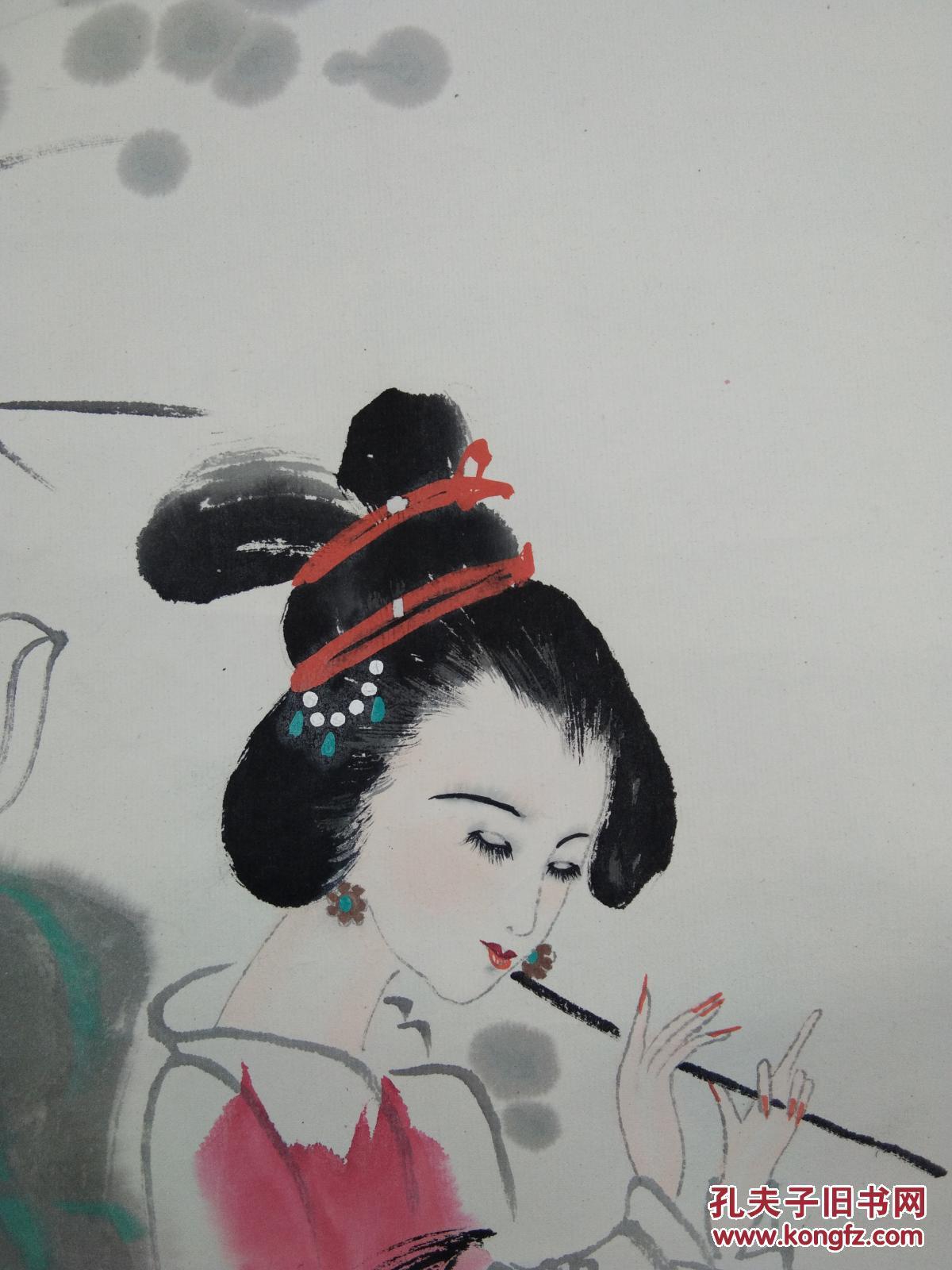萧县著名画家白丁仕女图 拍品编号:29928158图片
