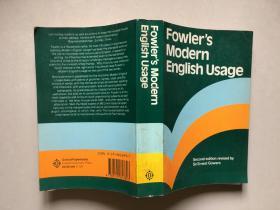 Fowler's Modern English Usage【现代英语用法词典】