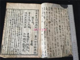 稀见诗集《中华若木诗抄》上卷。东山如月和尚注,或是唐时传入日本的诗选辑?孔网惟一。江户早期刻本
