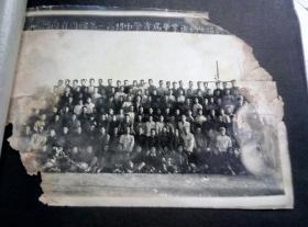 河南商丘第一高级中学首届毕业班师生留影