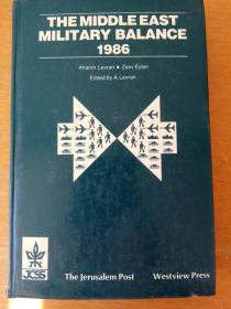 The middle east military balance 1986