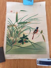 1935年日本印刷《兰·鸟图》,【堂本印象】绘