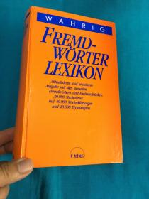 Fremd-Wörter Lexikon【德语外来词词典】