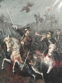 大正年间(1915年)铜版画甲午战争图