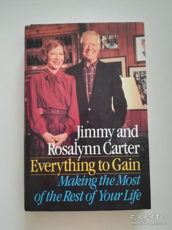 诺贝尔和平奖得主,前美国总统 吉米卡特及夫人亲笔签名本,英文原版,品相如图