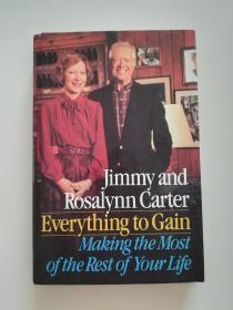 诺贝尔和平奖得主,前美国总统 吉米卡特及夫人签名本,英文原版,品相如图