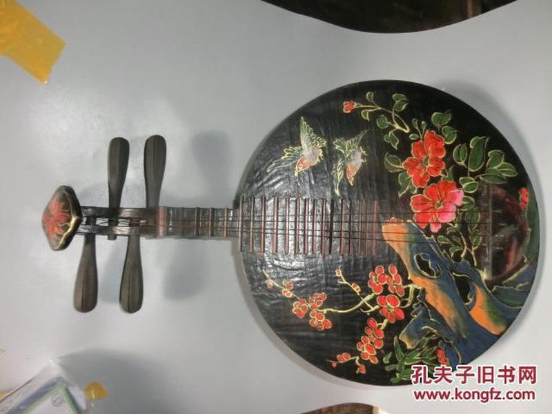 收来的老漆器琵琶 品相好
