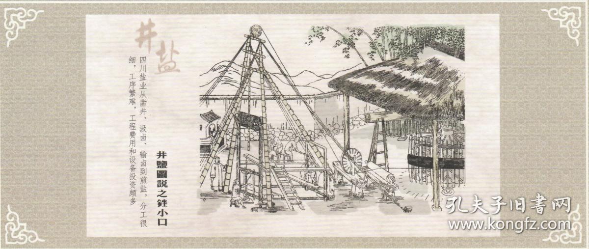 地方特色_四川自贡地方特色系列明信片《井盐》