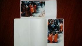 1998九江边防站梅柏林摄影的九江抗洪投稿照片两张