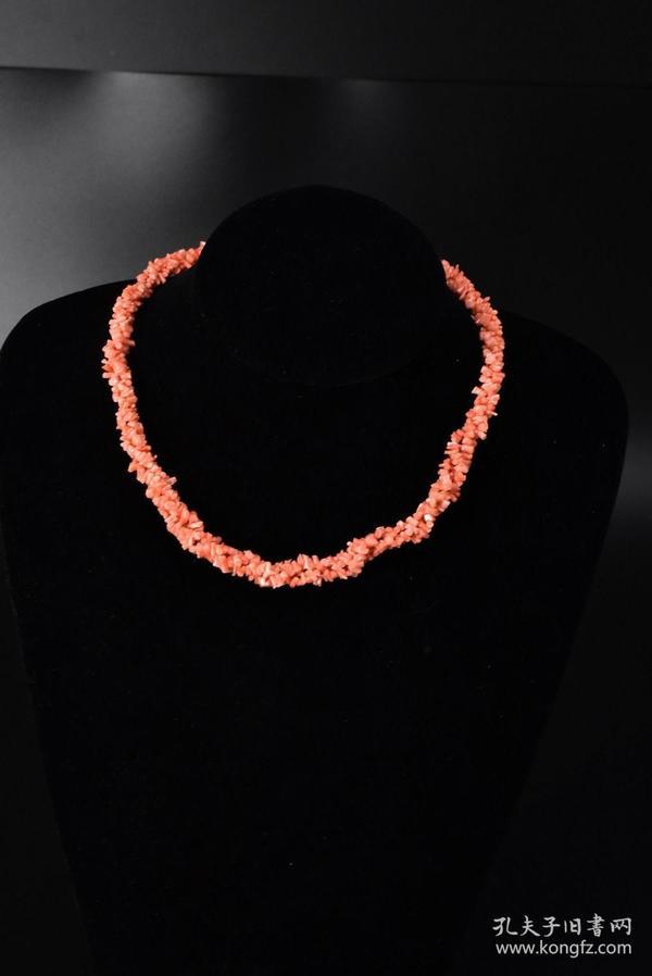 (S0265)《日本珊瑚项链》一条 天然深水珊瑚项链 全长:40cm 总重量:30.28克 项链宽10mm   珊瑚自古即被视为祥瑞幸福之物,它代表高贵与权势,是幸福与永恒的象征