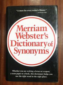 补图 库存全新无瑕疵未使用 美国进口词典   Websters Dictionary of Synonyms 韦氏同义词辞典