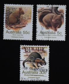 澳大利亚邮票----濒危物种(信销票)