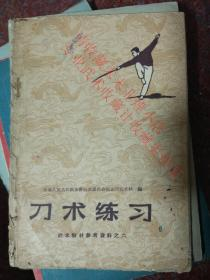 刀术练习 人民体育出版社  1959年