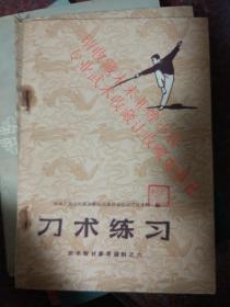 刀术练习 人民体育出版社  1959年  8品