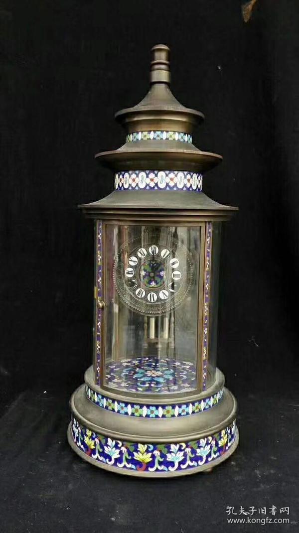 珐琅彩三层塔造型西洋钟,代理可以转图加价,运费自理。