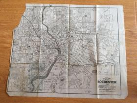 【民国欧美地图1】1921年美国出版《罗彻斯特城市地图》