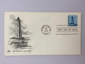 1978年4月14日美国(最古老原始灯塔)首日封