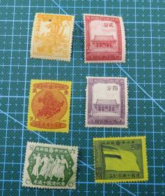 """1942年满洲帝国纪15  """"满洲帝国建国十周年纪念""""--纪念邮票6枚新全套"""
