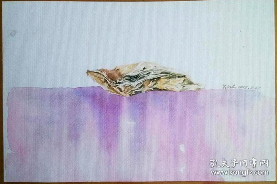 【水彩】静物创作 牡蛎 烟台市第一届水彩画展入选作品