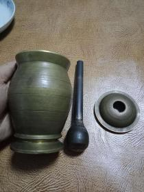 制作中药的好神器《铜捣药罐》----东西如图   --包纯铜    ----