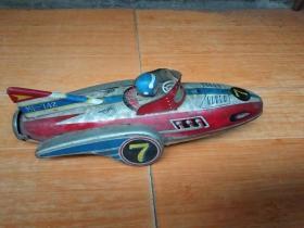 老铁皮玩具飞机.可以正常跑.包邮
